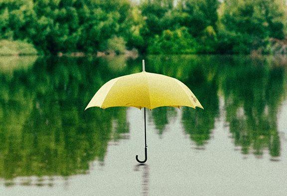 umbrella on water
