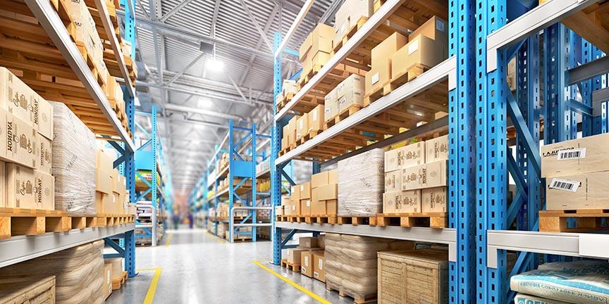 factory warehouse shelves